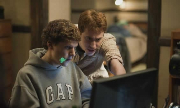"Una scena del film ""The Social Network"""
